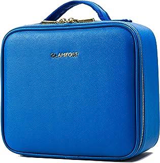 GLAMFORT® Makeup Case Makeup Bag Travel Makeup Bag Large Capacity with Dividers Makeup Case Organizer Toiletry Bag(S,Blue)