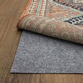 Mohawk Home Dual Surface Felt and Latex Non Slip Rug Pad, 9'x12', Gray