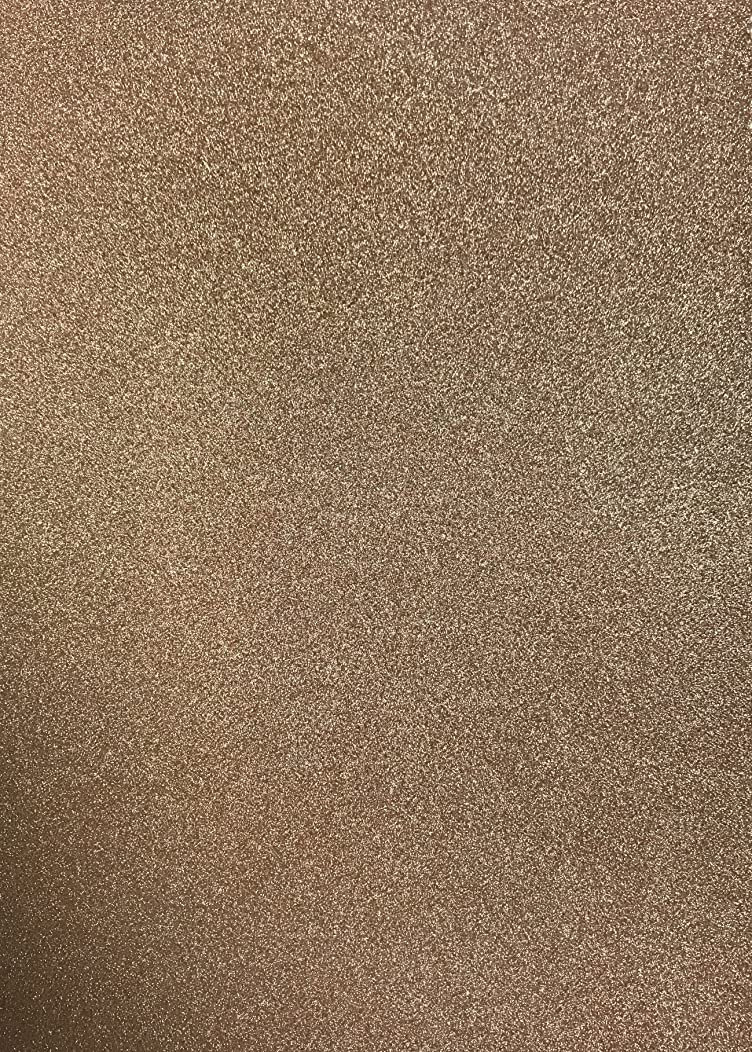 Oakwood Archer A4 Low-Shed Glitter Card-10 Sheets, Card, Light Gold, 0.1 x 21 x 29.5 cm
