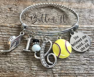 SENIOR 2019, volleyball, softball, soccer gift, Senior night, GRADUATE, cheer, dance, charm bracelet, Class of 2019, birthday gift for HER, CREATE your own