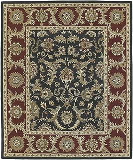 Bombay Home Hand-Tufted Joaquin Black Kashan Wool Rug (2' x 3') - 2' x 3'