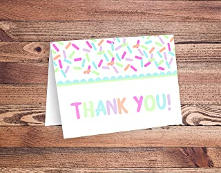 Baby Sprinkle Baby Shower Thank You Cards - Pastel, 25 Count