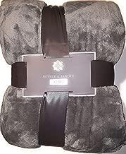 Monte and Jardin King Jacquard Velvet Blanket Grey