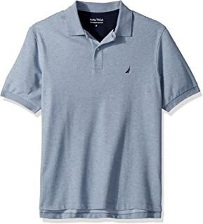 Men's Big and Tall Short Sleeve Solid Deck Polo Shirt