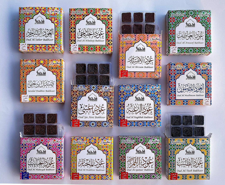 Ranking TOP15 Dukhni Oud Bakhoor Gift Box Super Assorted of Boxes Large-scale sale 12 Set.