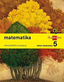 Matematika. Lehen Hezkuntza 5. Bizigarri - Pack de 3 libros - 9788498553116