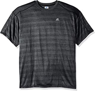 Russell Athletic Men's Big and Tall Ss Dripower Heather Crew, Black, LT
