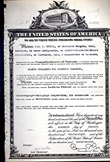 Patent#2104863, Granted to Carl J. Hueber Assignor to Addressograph-Multigraph Corporation, for an Alleged New & Useful Improvement in Platen Mechanism for Printing Machines ..