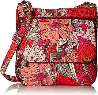 Vera Bradley Women's Double Zip Mailbag Bohemian Blooms Cross Body