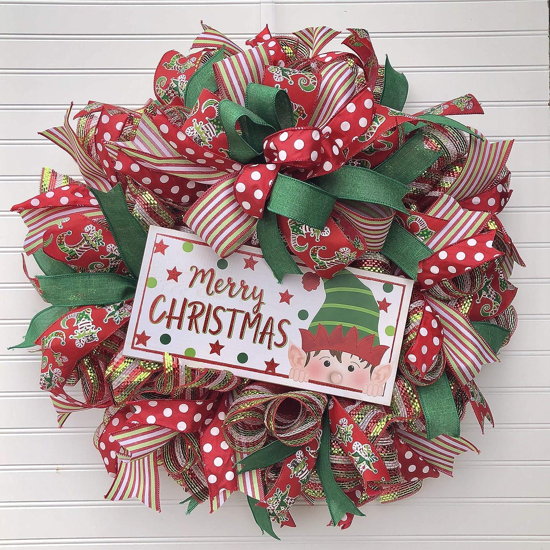 2021 model Elf Christmas Popular product Wreath Decor Hanger Farmhouse Door