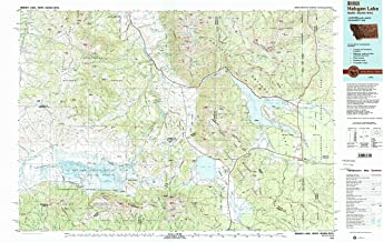 YellowMaps Hebgen Lake MT topo map, 1:100000 Scale, 30 X 60 Minute, Historical, 1993, Updated 1993, 24.1 x 38.6 in