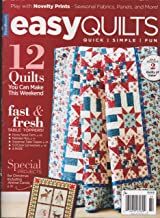 Fons & Porter's Easy Quilts Magazine Winter 2018 12 Quick Simple Fun