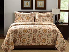 Greenland Home Fashions Andorra Quilt Set, Multicolor, Full/Queen