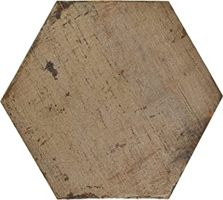 SomerTile FNURTXTE Vintage Hex Porcelain Floor and Wall Tile, 14.125