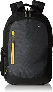Gear Polyester 46 cms 24 Litre Grey-Black-yellow(LBPECONO10412) Backpack