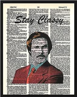 Signature Studios Will Ferrell Ron Burgundy Anchor Man Photo Dictionary Art Print 8x10