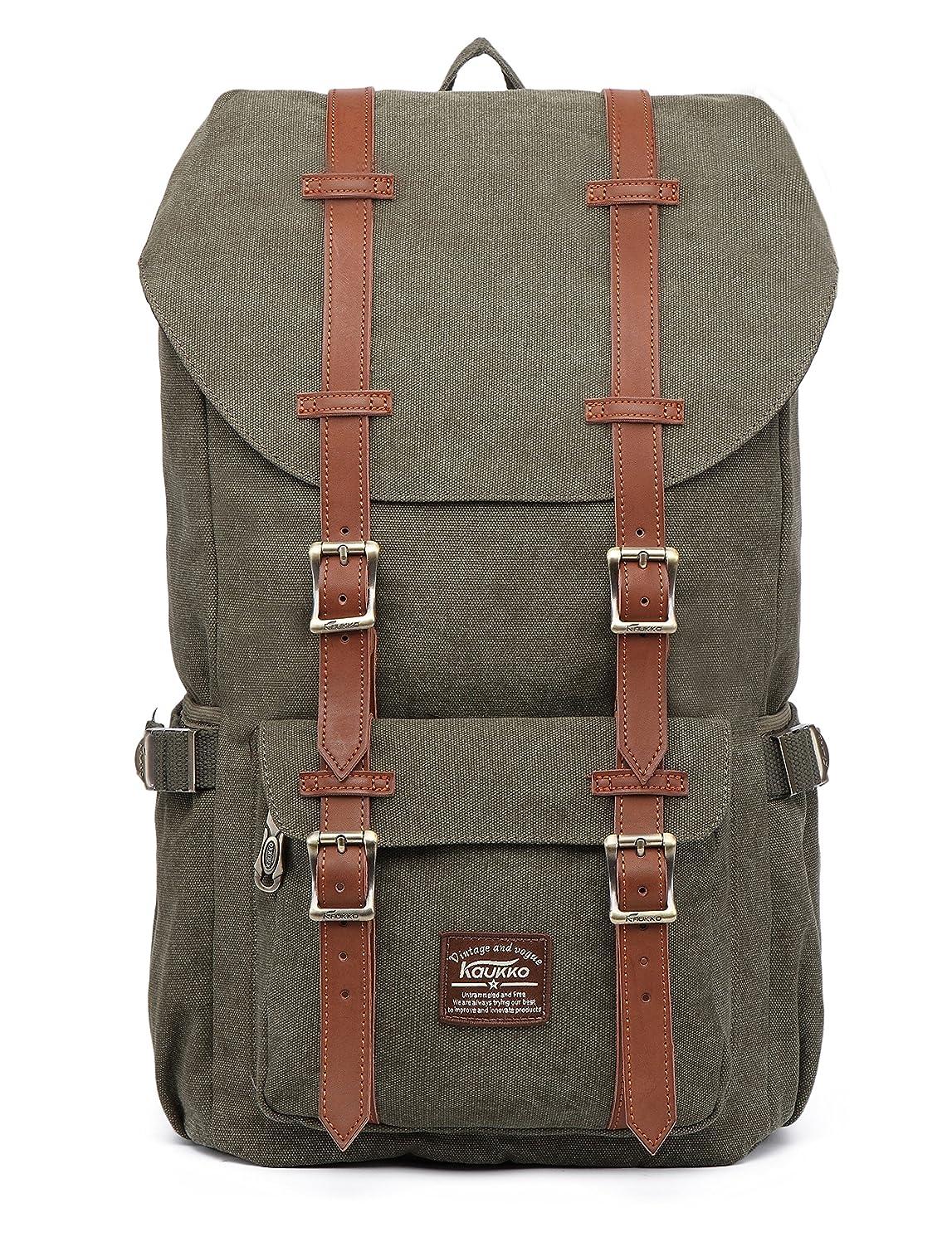 KAUKKO Laptop Outdoor Backpack, Travel Hiking& Camping Rucksack Pack, Casual Large College School Daypack, Shoulder Book Bags Back Fits 15