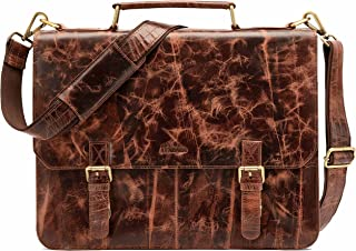 LEABAGS Gainsville Aktentasche Laptoptasche 15 Zoll Ledertasche im Vintage Look, LxBxH: ca. 29 x 11 x 30 cm - FurryVinkat