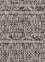 Well Woven Abigail Vintage Grey & Ivory Distressed Moroccan Geometric Area Rug 5x7 (5'3