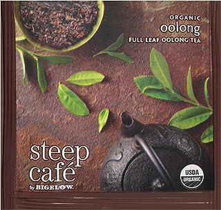 Steep Café Organic Oolong Tea, 50 Bags per Box, Single Source, Premium Whole Leaf Teas in a Sachet Pyramid Bag, Individual...