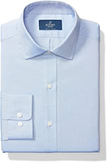 Buttoned Down mens Classic Fit Spread-Collar Solid Pocket Options Dress Shirt