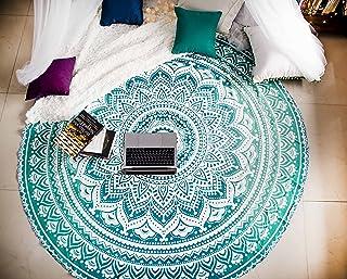 Folkulture Mandala Round Tapestry Hippie Indian Mandala Beach Roundie Picnic Table Throw Hippy Bohemian Spread Boho Gypsy ...