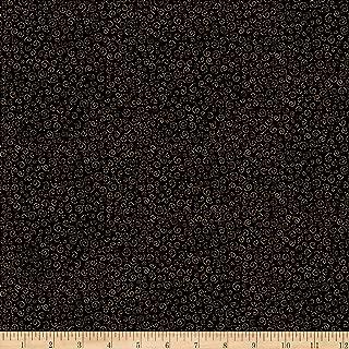 QT Fabrics Moose On The Loose Mini Swirl Black Fabric by the Yard
