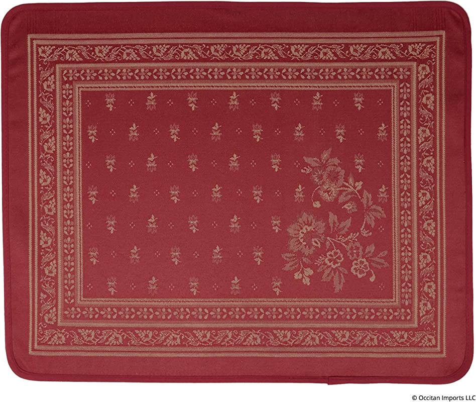 Occitan Imports Durance Red Jacquard French Place Mat Set Of 1