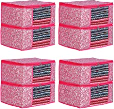 Porchex Presents Non Woven Saree Cover Storage Bags for Clothes with primum Quality Combo Offer Saree Organizer for Wardrobe/Organizers for Clothes/Organizers for Wardrobe Pack of 3 (Pack of 8)