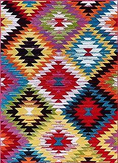 Well Woven Viva Joy Modern Southwestern Multi Color Area Rug 7'10
