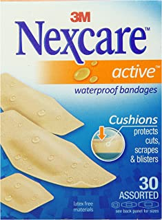 Nexcare Active Extra Cushion Bandages, Assorted, 30ct