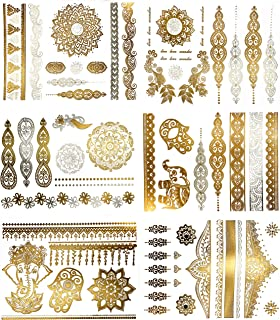 gold body tattoo jewelry