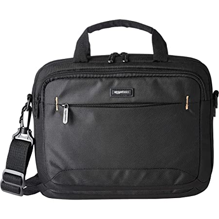Amazon Basics 11.6-Inch Laptop and iPad Tablet Shoulder Bag Carrying Case, Black, 1-Pack