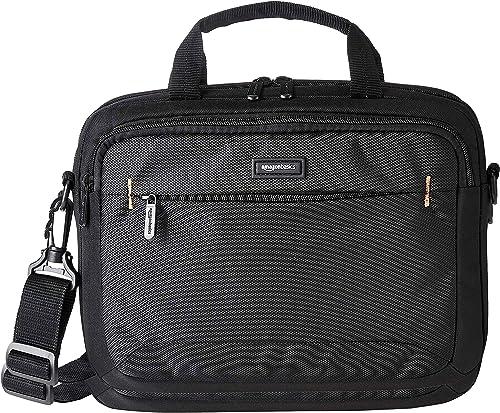 """Amazon Basics Sacoche à bandoulière pour ordinateur portable et tablette iPad 11,6"""" (29,4 cm) noire, 1 pièce"""