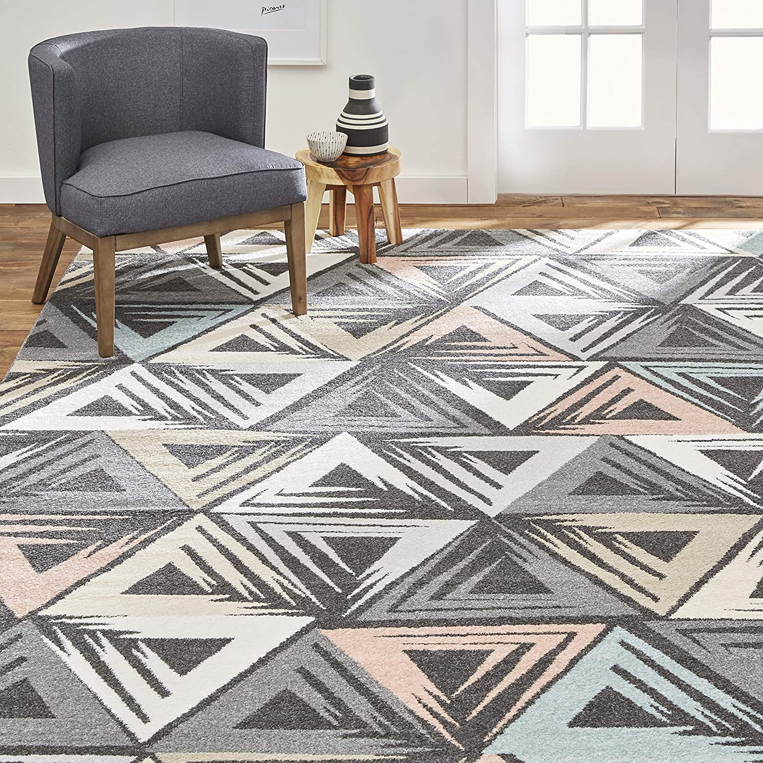 Home Dynamix Area Rug Ivory Charcoal Excellence Rectangle 3'11