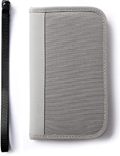 TRIWONDER Family Passport Holder Wallet RFID Travel Document Organizer Capacious with Neck Strap for Women & Men