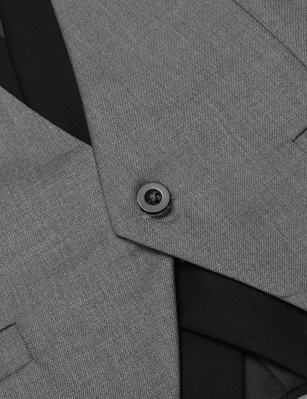 COOFANDY Men's Business Suit Vest Casual Layered Slim Fit Wedding Vests Skinny Dress Waistcoat