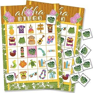 Hawaiian Luau Bingo Game - 24 Players