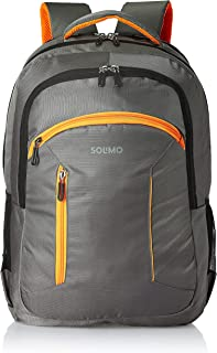 Amazon Brand - Solimo Laptop Backpack for 15.6-inch Laptops, 38L (Grey)