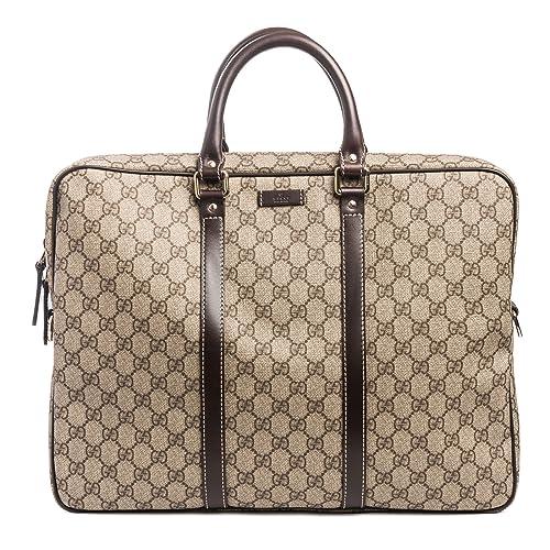 14c8d4f86fdb Gucci Flight bag Supreme GG Canvas Beige Ebony Brown Messenger Bag New