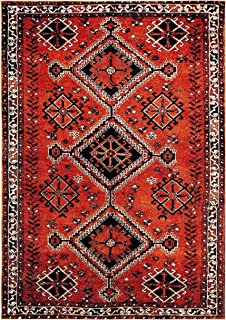 "Safavieh Vintage Hamadan Collection VTH293P Area Rug, 5' 3"" x 7' 6"", Orange/Red"