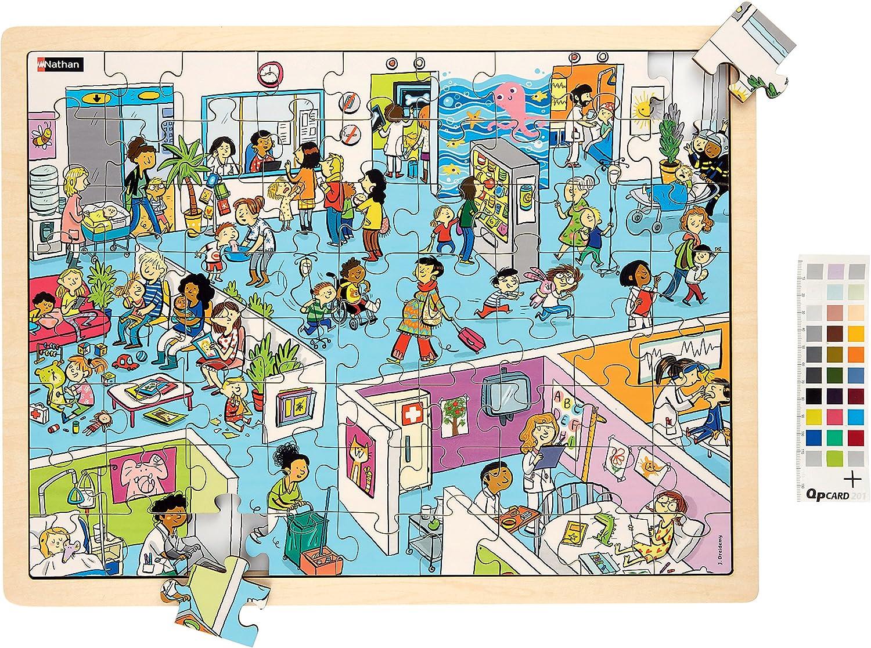 Nathan NATHAN387173l' ospedale di legno puzzle, gree,  pezzi)