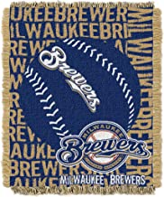 Officially Licensed MLB Double Play Jacquard Throw Blanket, Soft & Cozy, Washable, Throws & Bedding, 46