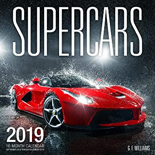 cars page a day calendar 2019