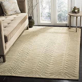 Safavieh Martha Stewart Collection MSR3612B Premium Wool and Viscose Chevron Leaves Oolong Tea Green Runner Rug (2'6