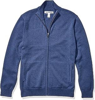 Amazon Essentials Men's Full-Zip Cotton Sweater
