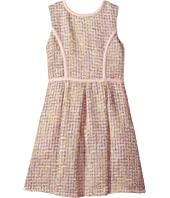 Us Angels - Sleeveless Princess Fit N Flare Boucle Dress (Big Kids)