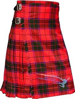 Scottish Rose (Robertson Tartan) 8 Yard & 13Oz Tartan Kilt