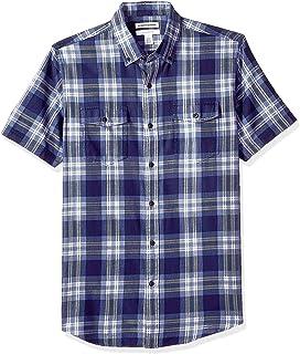 comprar comparacion Amazon Essentials - Camisa de sarga y corte entallado con dos bolsillos y manga corta para hombre