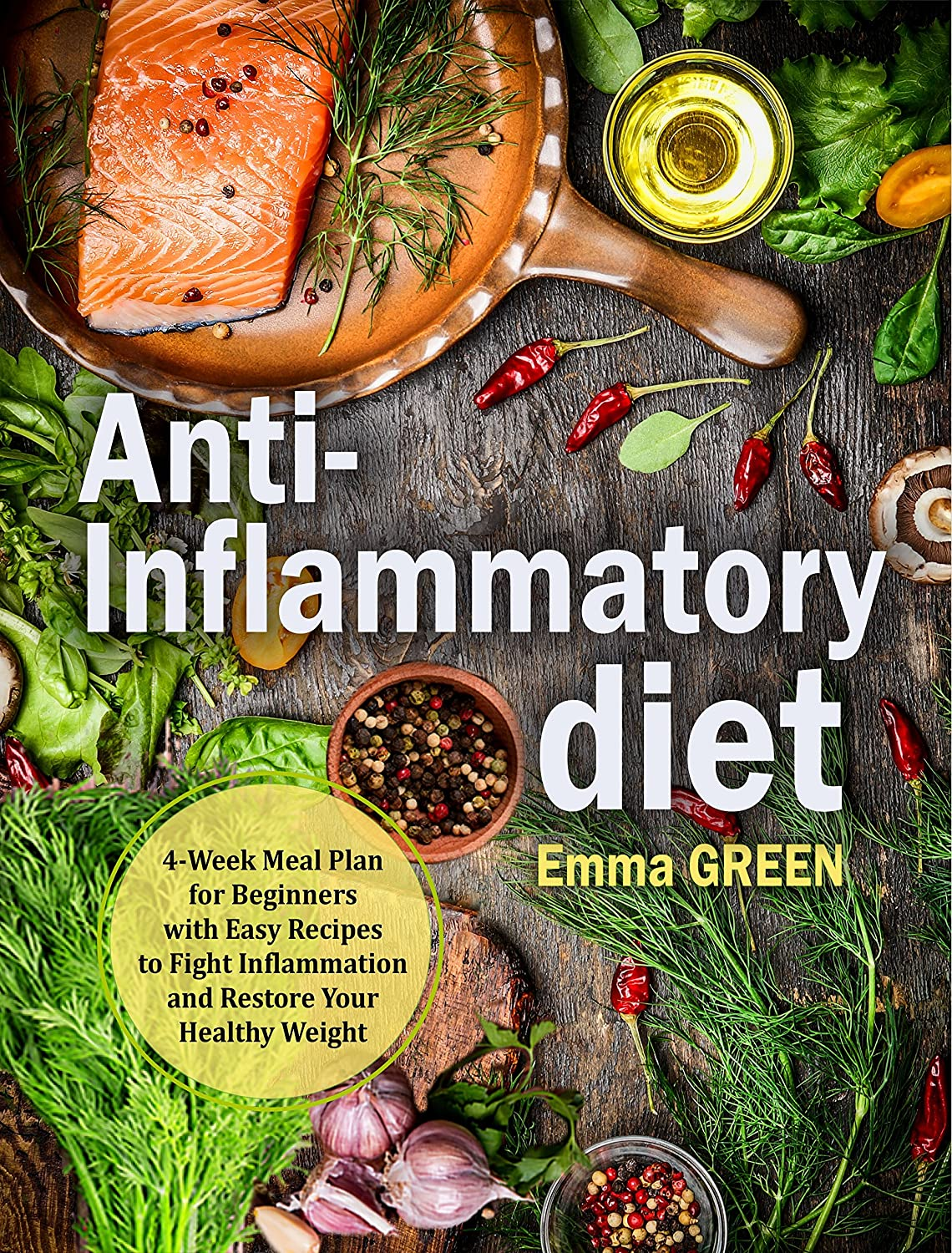 Anti Inflammatory Diet: 4-Week Meal Plan for Beginners with Easy Recipes to Fight Inflammation and Restore Your Healthy Weight (English Edition)